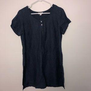J Jill Pure Jill 100% Linen Button Front Dress